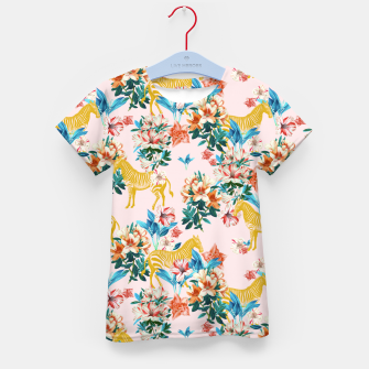 Floral and Zebras Kid's t-shirt thumbnail image