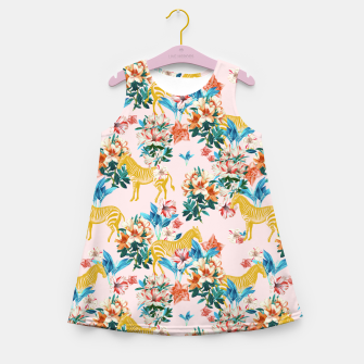 Floral and Zebras Girl's summer dress thumbnail image