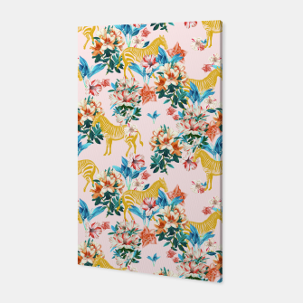 Floral and Zebras Canvas thumbnail image