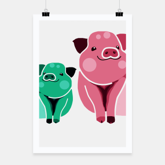 Miniaturka Two Pigs Poster, Live Heroes