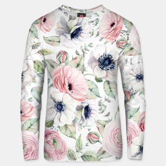 Thumbnail image of FLOWERS WATERCOLOR 29 Unisex sweater, Live Heroes