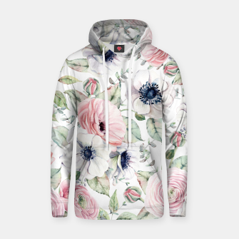 Thumbnail image of FLOWERS WATERCOLOR 29 Hoodie, Live Heroes