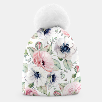 Thumbnail image of FLOWERS WATERCOLOR 29 Beanie, Live Heroes