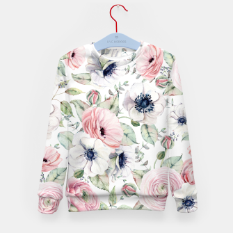 Thumbnail image of FLOWERS WATERCOLOR 29 Kid's sweater, Live Heroes