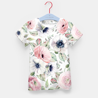 Thumbnail image of FLOWERS WATERCOLOR 29 Kid's t-shirt, Live Heroes