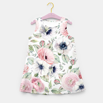 Thumbnail image of FLOWERS WATERCOLOR 29 Girl's summer dress, Live Heroes
