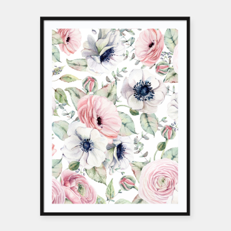 Thumbnail image of FLOWERS WATERCOLOR 29 Framed poster, Live Heroes