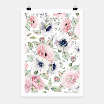 Thumbnail image of FLOWERS WATERCOLOR 29 Poster, Live Heroes