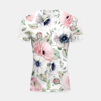 Thumbnail image of FLOWERS WATERCOLOR 29 Shortsleeve rashguard, Live Heroes