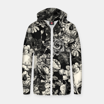 Thumbnail image of SKULLS Zip up hoodie, Live Heroes