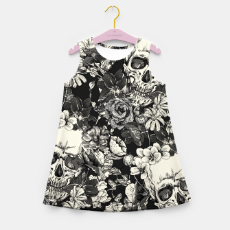 SKULLS Girl's summer dress Bild der Miniatur