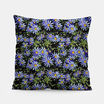 Thumbnail image of Sunbathing Blue Daisies Pillow, Live Heroes