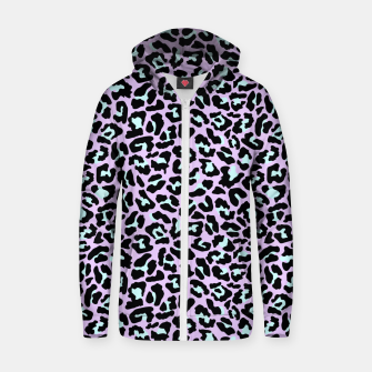 Thumbnail image of Pastel leopard fur III.  Zip up hoodie, Live Heroes