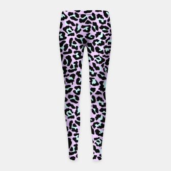Thumbnail image of Pastel leopard fur III.  Girl's leggings, Live Heroes