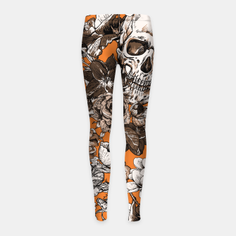 SKULLS 2 Girl's leggings thumbnail image