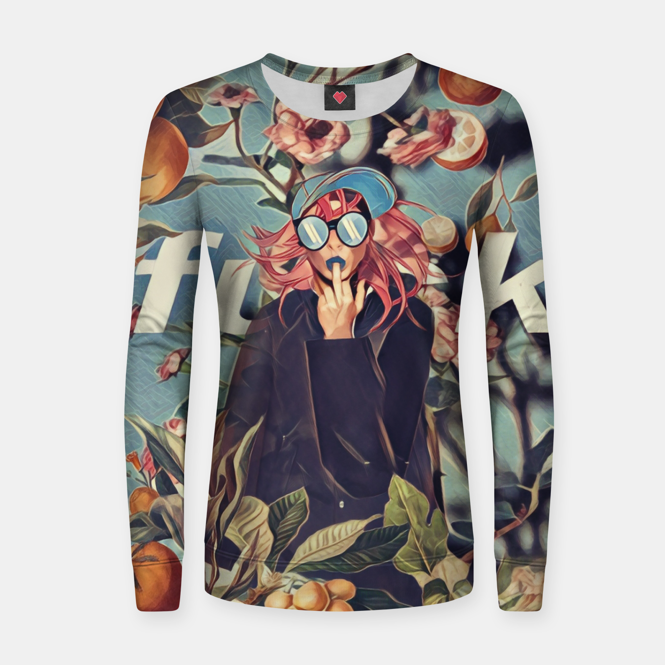 Foto Orange and Floral Women sweater - Live Heroes