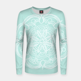 Mint Romantic Mandala #2 #drawing #decor #art Frauen sweatshirt thumbnail image