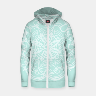 Mint Romantic Mandala #2 #drawing #decor #art Reißverschluss kapuzenpullover thumbnail image