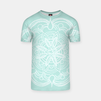 Mint Romantic Mandala #2 #drawing #decor #art T-Shirt thumbnail image