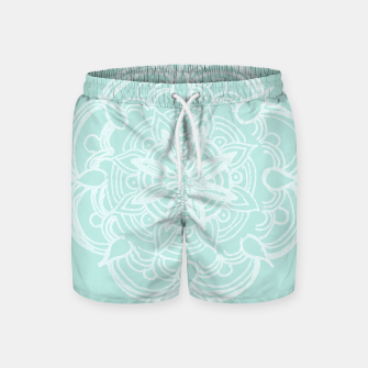 Mint Romantic Mandala #2 #drawing #decor #art Badeshorts thumbnail image