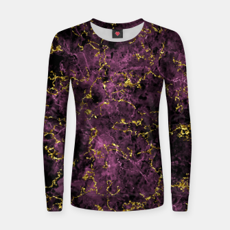 Thumbnail image of GOLD MAGENTA MARBLE Women sweater, Live Heroes