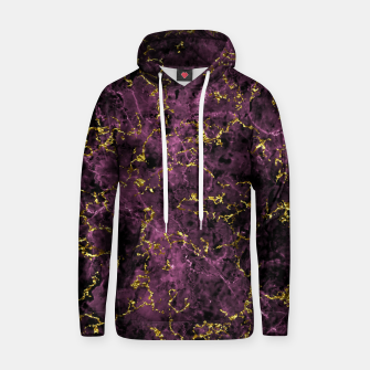 Thumbnail image of GOLD MAGENTA MARBLE Hoodie, Live Heroes