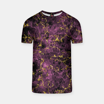 Thumbnail image of GOLD MAGENTA MARBLE T-shirt, Live Heroes