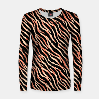Thumbnail image of Tiger skin/fur texture Women sweater, Live Heroes