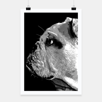 Thumbnail image of gxp english bulldog dog vector art black white Poster, Live Heroes