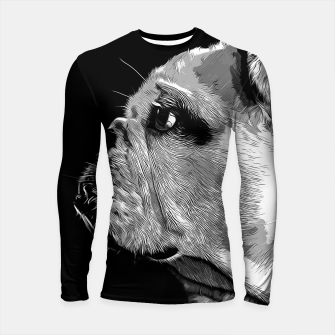 Thumbnail image of gxp english bulldog dog vector art black white Longsleeve rashguard , Live Heroes