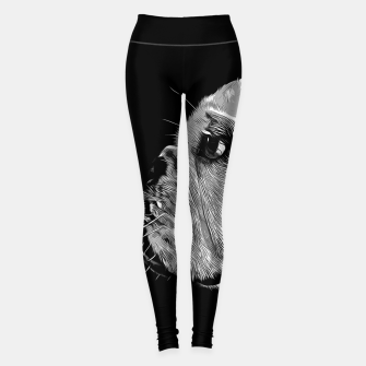 Thumbnail image of gxp english bulldog dog vector art black white Leggings, Live Heroes