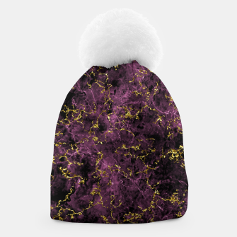 Thumbnail image of GOLD MAGENTA MARBLE Beanie, Live Heroes
