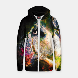 Thumbnail image of gxp english bulldog dog splatter watercolor Zip up hoodie, Live Heroes
