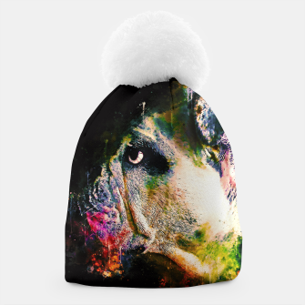 Thumbnail image of gxp english bulldog dog splatter watercolor Beanie, Live Heroes