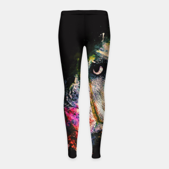 Thumbnail image of gxp english bulldog dog splatter watercolor Girl's leggings, Live Heroes