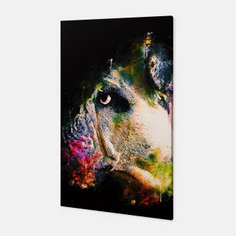 Thumbnail image of gxp english bulldog dog splatter watercolor Canvas, Live Heroes