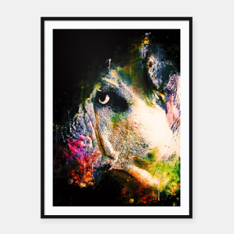 Thumbnail image of gxp english bulldog dog splatter watercolor Framed poster, Live Heroes