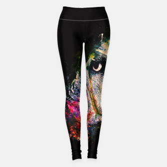 Thumbnail image of gxp english bulldog dog splatter watercolor Leggings, Live Heroes