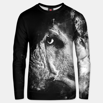 Thumbnail image of gxp english bulldog dog splatter watercolor black white Unisex sweater, Live Heroes