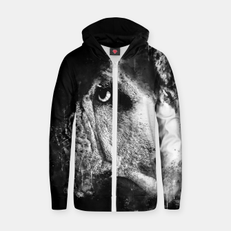 Thumbnail image of gxp english bulldog dog splatter watercolor black white Zip up hoodie, Live Heroes