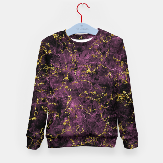 Thumbnail image of GOLD MAGENTA MARBLE Kid's sweater, Live Heroes