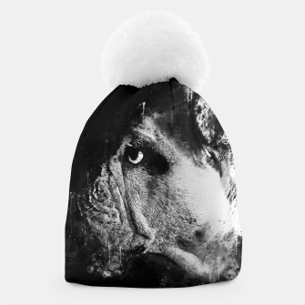 Thumbnail image of gxp english bulldog dog splatter watercolor black white Beanie, Live Heroes