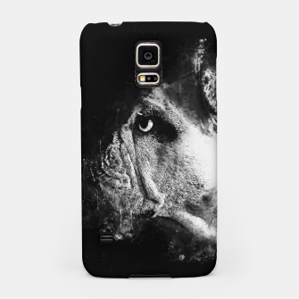 Thumbnail image of gxp english bulldog dog splatter watercolor black white Samsung Case, Live Heroes