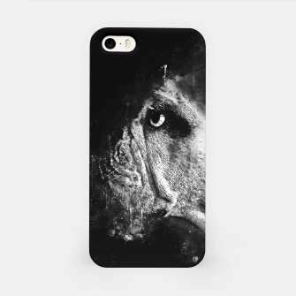Thumbnail image of gxp english bulldog dog splatter watercolor black white iPhone Case, Live Heroes