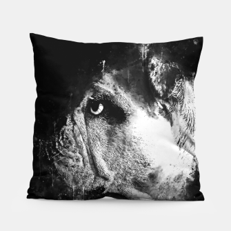 Thumbnail image of gxp english bulldog dog splatter watercolor black white Pillow, Live Heroes