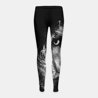 Thumbnail image of gxp english bulldog dog splatter watercolor black white Girl's leggings, Live Heroes