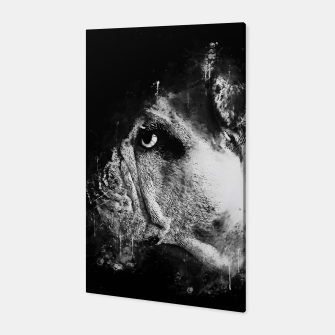 Thumbnail image of gxp english bulldog dog splatter watercolor black white Canvas, Live Heroes