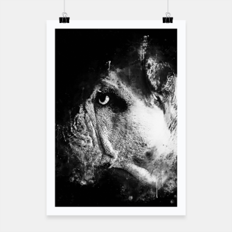 Thumbnail image of gxp english bulldog dog splatter watercolor black white Poster, Live Heroes