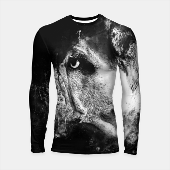 Thumbnail image of gxp english bulldog dog splatter watercolor black white Longsleeve rashguard , Live Heroes