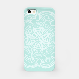 Mint Romantic Mandala #2 #drawing #decor #art iPhone-Hülle thumbnail image